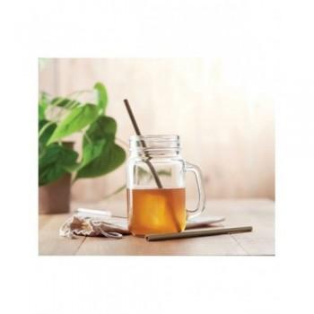 Bambusowe słomki do picia w etui