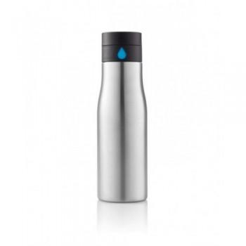 Stalowa Butelka 600 ml do monitorowania poziomu nawodnienia Aqua
