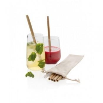 Bambusowe słomki do picia 6szt. w etui