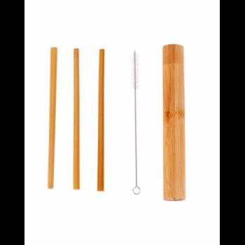 Bambusowe słomki do picia 3 szt. w etui