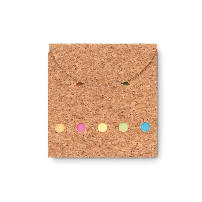 Karteczki memo w okładce z korka