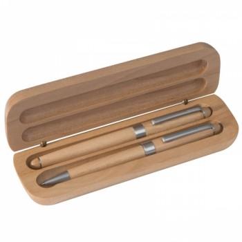 Zestaw piśmienny drewniany