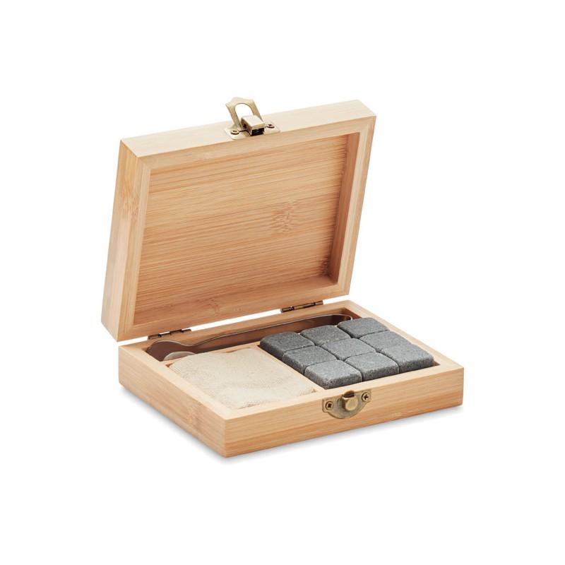 Zestaw do whisky w bambusowym pudełku