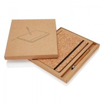 Zestaw Korek Notes A5 oraz touch pen z bambusa