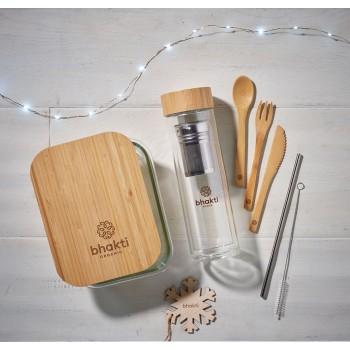 Lunchbox szkło bambus