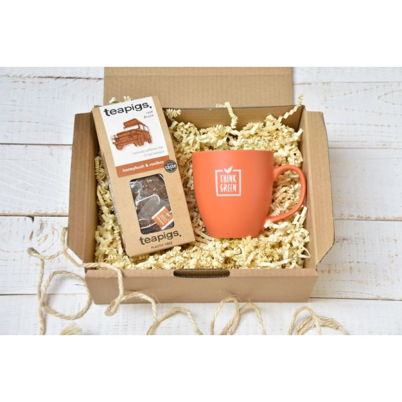 ECO Zestaw Herbata TEAPIGS HONEYBUSH AND ROOIBOS tea, ceramiczny kubek 450 ml