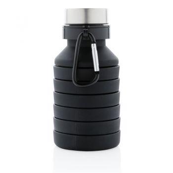 Składana butelka sportowa 550 ml z karabińczykiem