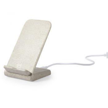 Ładowarka bezprzewodowa 10W ze słomy pszenicznej, stojak na telefon