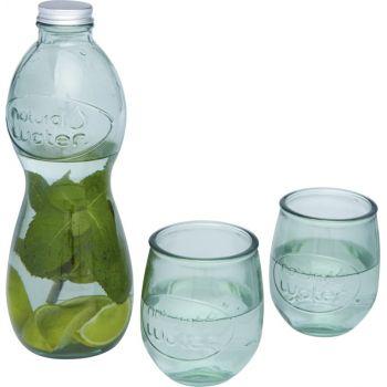 3-częściowy zestaw szkła z recyclingu