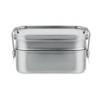 duży i wygodny Lunchbox ze stali nierdzewnej