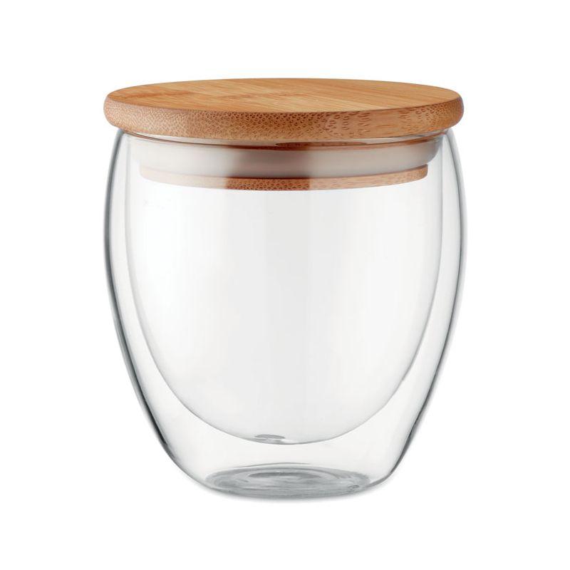 Szklanka z bambusową zatyczką 250ml