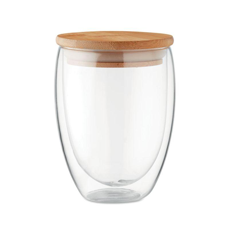 Szklanka medium z bambusową zatyczką 350ml