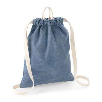 Sznurkowy plecak z jeansu BAGBASE®
