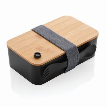 Lunchbox - pudełko śniadaniowe, bambusowe wieczko