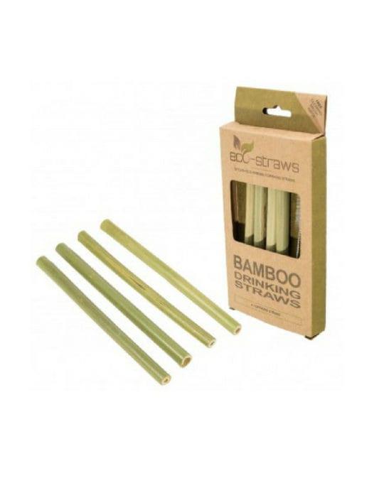 Bambusowe, wielorazowe słomki do picia