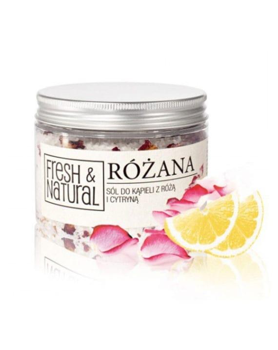 Różana sól do kąpieli z różą i cytryną