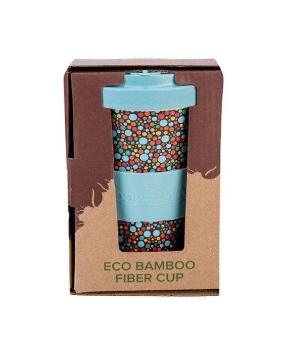 Kubek z bambusa Dots 500ml