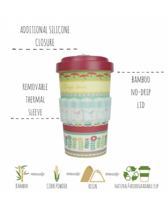 Kubek z bambusa Love 500ml