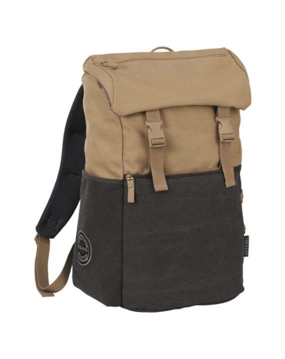 Plecak na komputer z płótna bawełnianego