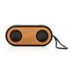 Podwójny Bezprzewodowy głośnik 10W Bambus