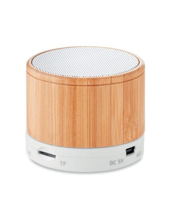 Bezprzewodowy głośnik Round Bamboo