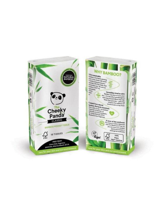 Bambusowe chusteczki higieniczne kieszonkowe 8 paczek
