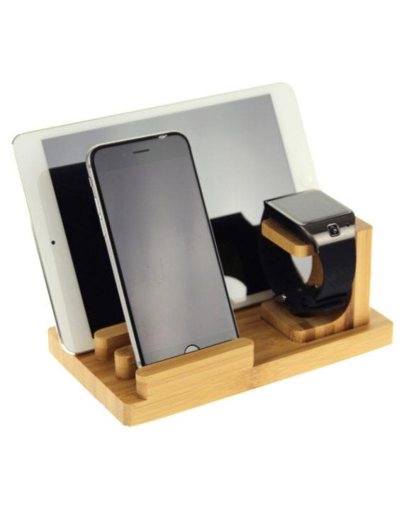 Stacja ładująca USB / stojak na telefon, iPada i zegarek