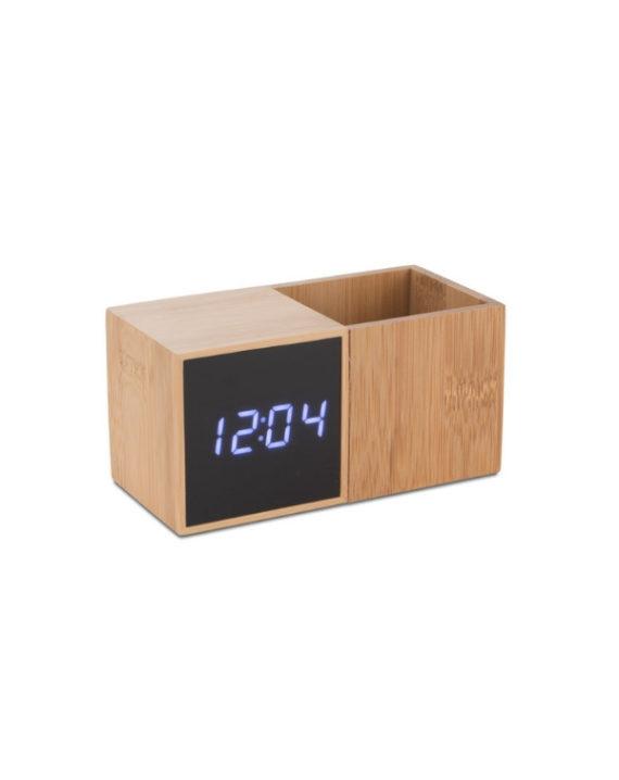Zegar z przybornikiem Bambus