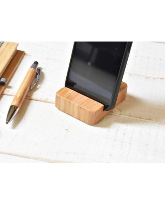 Bambusowy stojak z na telefon