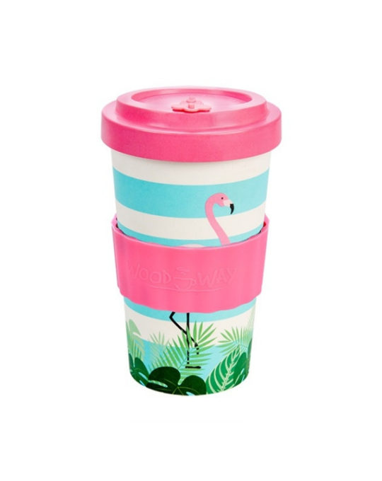 Kubek z bambusa Flamingo 500ml