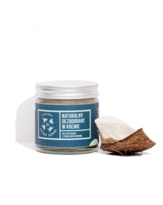Naturalny dezodorant w kremie, bezzapachowy