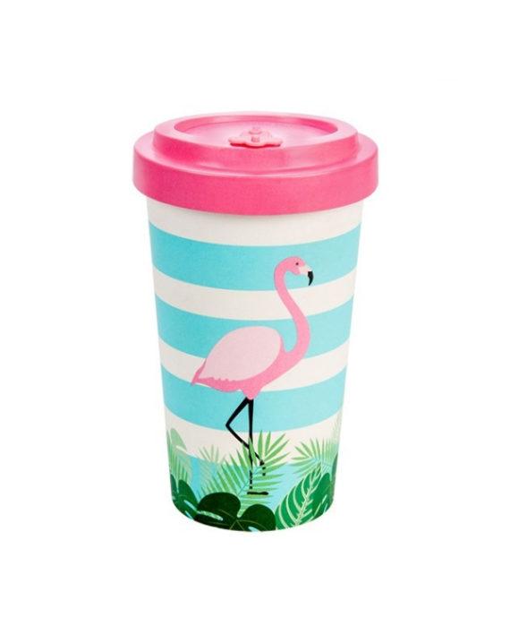 Kubek z bambusa Flamingo 500ml