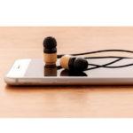 Bambusowe bezprzewodowe słuchawki douszne