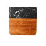 Marmurowe i drewniane podkładki