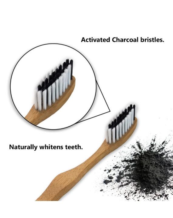 Szczoteczki bambusowe zestaw 4 szt