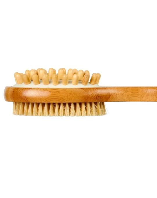 2-funkcyjna bambusowa szczotka prysznicowa